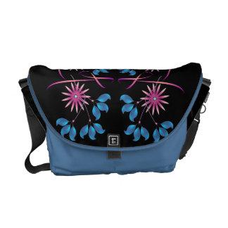 Flowers & Blue Leaves Rickshaw Messenger Bag