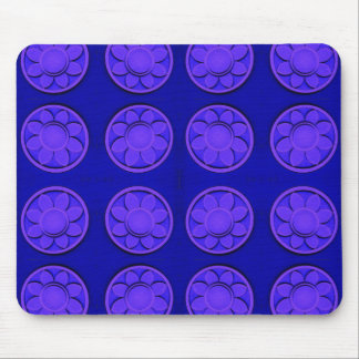 flowers blue mouse pad