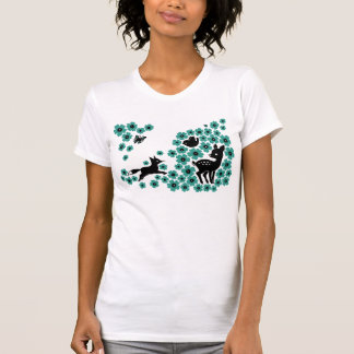 flowers (Blue) T-Shirt