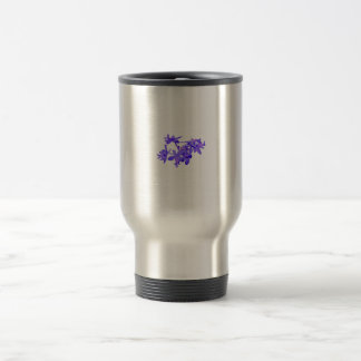 Flowers Blue Tinted Ground Orchid 15 Oz Stainless Steel Travel Mug
