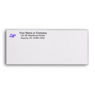 Flowers Blue Tinted Ground Orchid Envelope