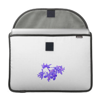 Flowers Blue Tinted Ground Orchid MacBook Pro Sleeve