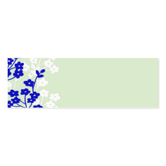flowers blue white green business card template