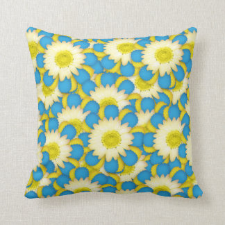 Flowers Blue & Yellow  Pillows
