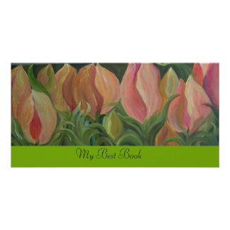 FLOWERS - BOOKMARK PHOTO GREETING CARD