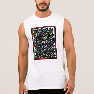 Flowers Botanical Artwork Sleeveless Shirt