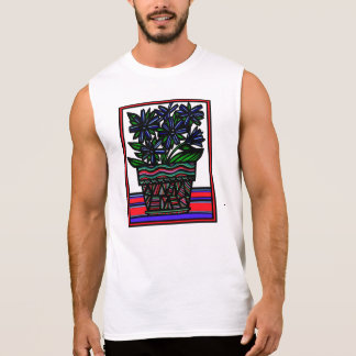Flowers Botanical Artwork Sleeveless T-shirt