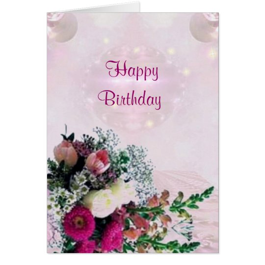 Flowers Bouquet  Birthday Card
