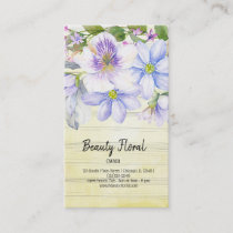 Flowers Bouquet Florist Business Card