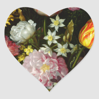 Flowers Bouquet Heart Sticker