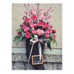 Flowers bouquet postcard