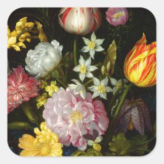 Flowers Bouquet Square Sticker