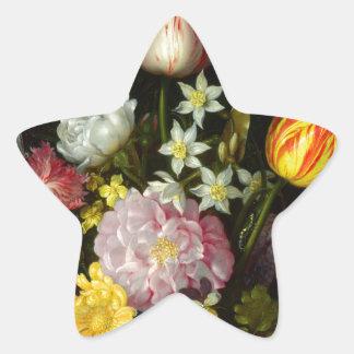 Flowers Bouquet Star Sticker
