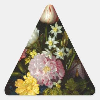 Flowers Bouquet Triangle Sticker