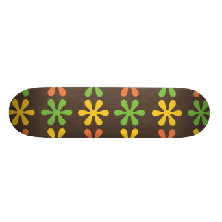 Flowers brown skate deck