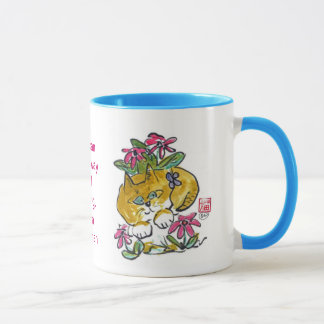 Flowers, butterflies and cats.... mug