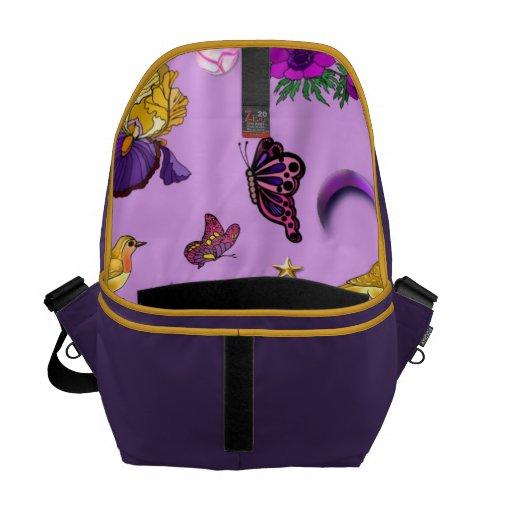 Flowers & Butterflies - Birds & Stars Messenger Bag