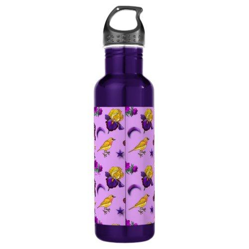 Flowers & Butterflies - Birds & Stars Stainless Steel Water Bottle