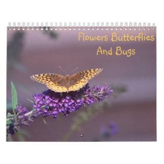 Flowers, Butterflies & Bugs Calendar