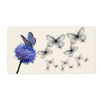 Flowers & Butterflies Large Shipping Labels
