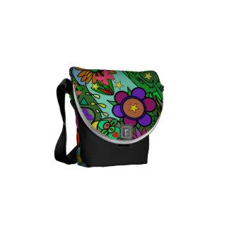 Flowers Butterflies Stars Garden Art Shoulder Bag