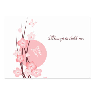 Flowers Butterfly Wedding Party Table Place Card Large Business Cards (Pack Of 100)