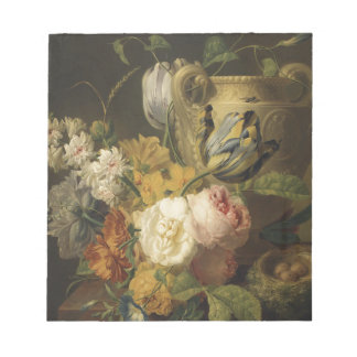 Flowers by a Stone Vase - Faes Notepad