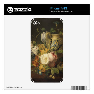 Flowers by a Stone Vase - Faes Skin For iPhone 4