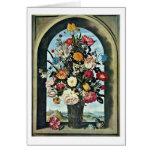 Flowers By Ambrosius Bosschaert The Elder Greeting Card