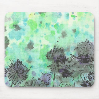 Flowers By The Pond Mouse Pad
