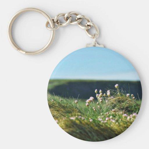 Flowers By The Sea Near Kilrush Ireland Keychains