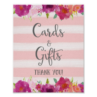 Flowers Cards and Gifts Wedding Poster Print
