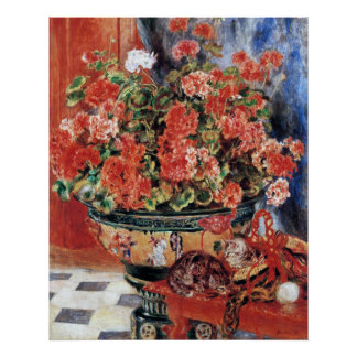 Flowers & Cats - Impressionist Art Print - Renoir