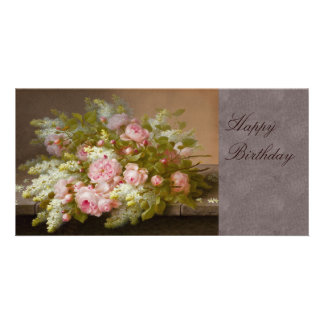 Flowers CC0167 Birthday Photo Card