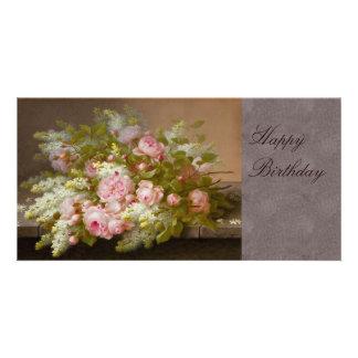 Flowers CC0167 Birthday Photo Card