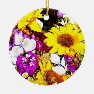 FLOWERS CERAMIC ORNAMENT