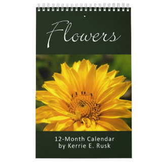 Flowers Choose-Your-Start-Date SinglePage Calendar