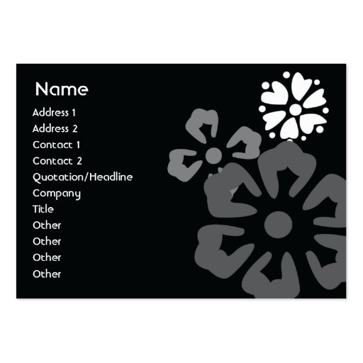 Flowers - Chubby Large Business Cards (Pack Of 100)