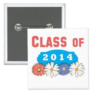 Flowers Class of 2014 Buttons