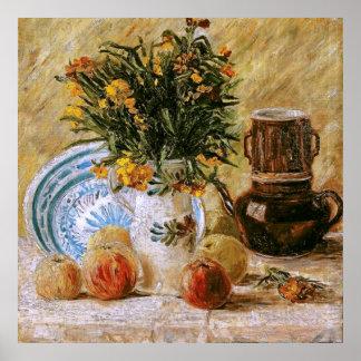 Flowers Coffeepot and Fruit Van Gogh Fine Art Poster