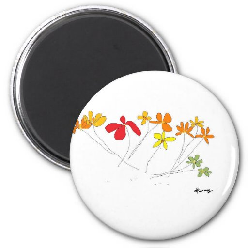 """""""FLOWERS"""" Collection Refrigerator Magnet"""