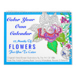 Flowers Color Your Own Personalized Color This Calendar