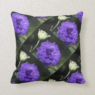 flowers colorful design pattern purple geometric pillow