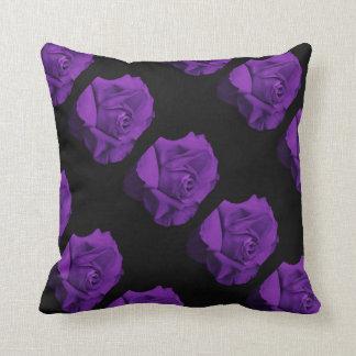 flowers colorful design roses purple geometric pillow
