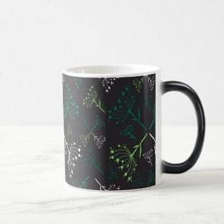Flowers concept vintage design mug