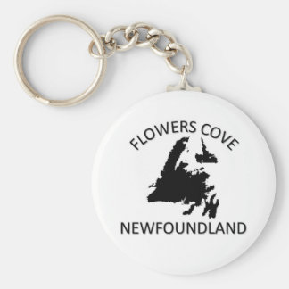 Flowers Cove Basic Round Button Keychain