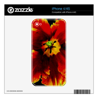 Flowers, Custom iPhone 4/4S Skin Decals For iPhone 4S