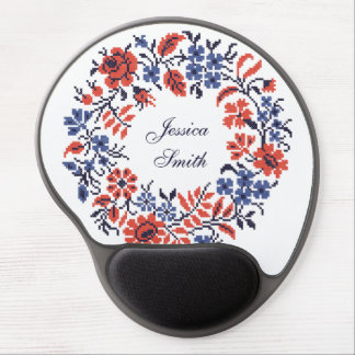Flowers cycle gel mouse pad