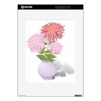 Flowers Dahlias in a vase Decals For The iPad