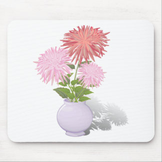 Flowers Dahlias in a vase Mouse Pad
